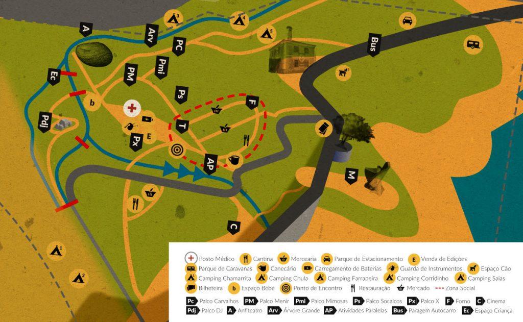 Andancas 2015 map