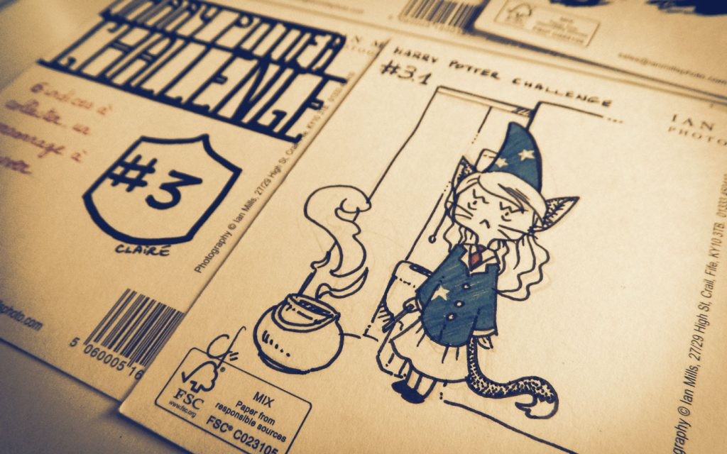 Harry Potter Postcard Challenge